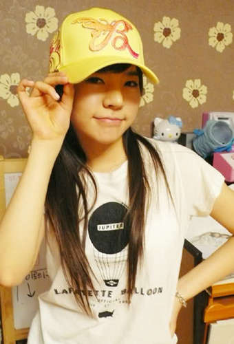 Sunny with cute yellow hat