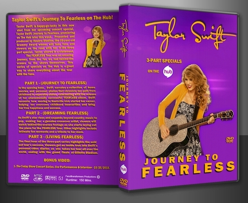 Taylor تیز رو, سوئفٹ Journey to Fearless DVD Cover