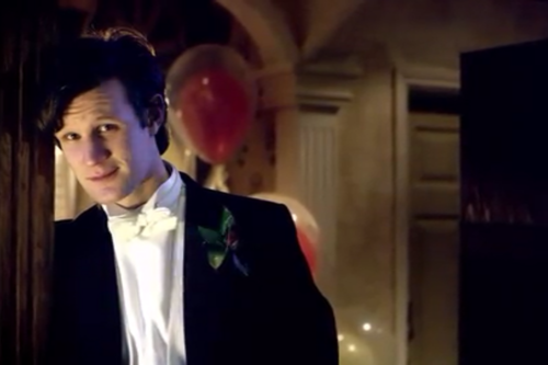 The Eleventh Doctor wallpaper containing a business suit, a suit, and a dress suit entitled The Doctor