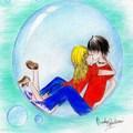 The Underwater Kiss - the-heroes-of-olympus fan art