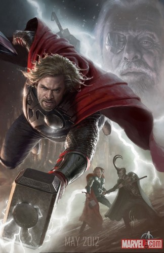 Thor character poster
