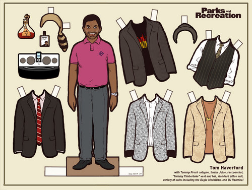 Tom Haverford paper doll