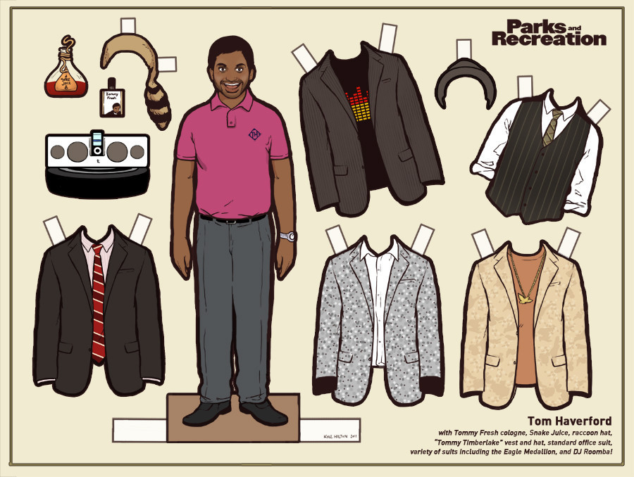Parks And Recreation Images Tom Haverford Paper Doll HD Wallpaper Background Photos