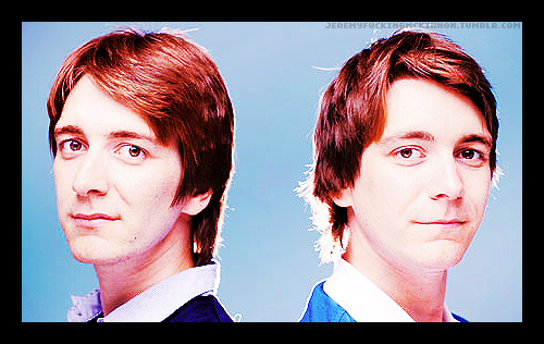Fred and George Weasley wallpaper with a business suit and a portrait entitled Twins <3