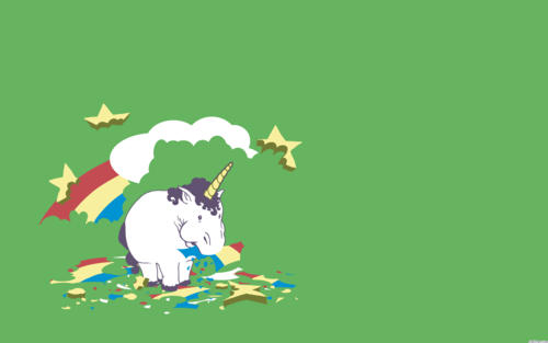 Unicorn Eating pelangi, rainbow kertas dinding