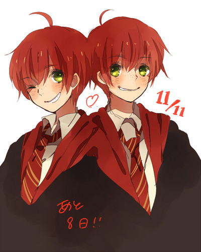 Harry Potter Anime wolpeyper probably containing anime called Weasley Members