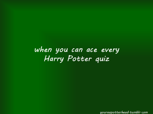 anda Know You're a Potterhead When...
