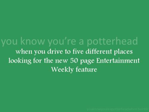 anda Know You're a Potterhead When...