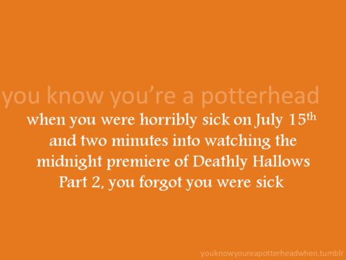 wewe Know You're a Potterhead When...