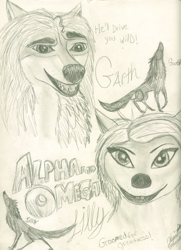alphaman ( garth ) and lilly by jennawolf48