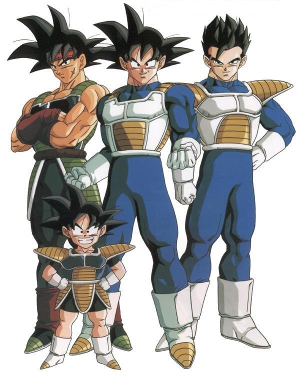 Dragon Ball Z Bardok Goku Gohan And Goten Saiyan Suits