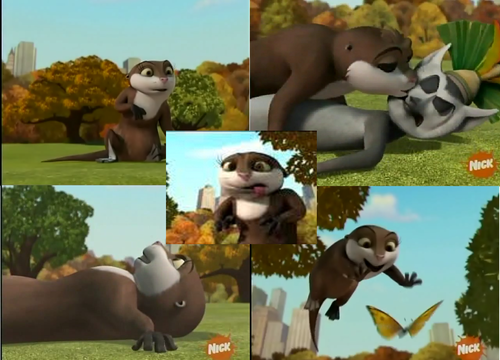 collage (otter gone wild)