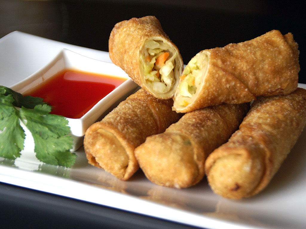 Chinese Food Images Egg Rolls Hd Wallpaper And Background
