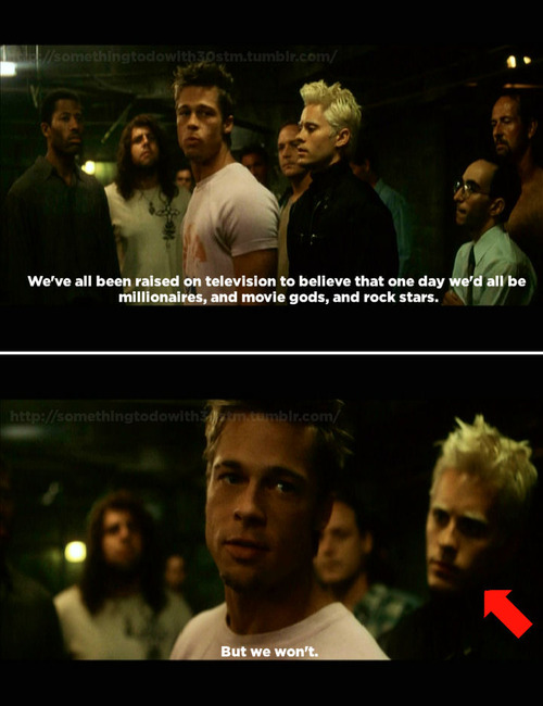 "rebellion in fight club and one The individual against self and society rebellion against being ""too complete"" and ""too perfect the novel fight club, while not specifically a."