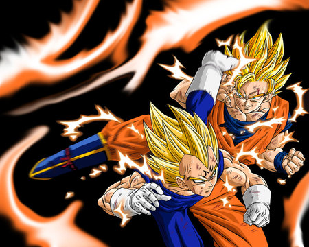 Goku Vs Vegeta Super Saiyan 100 And