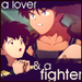 koga's a lover & a fighter - koga-and-kagome icon