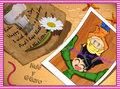 message in a bottle - kuki-and-wally fan art