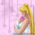 sailor moon - mother and child