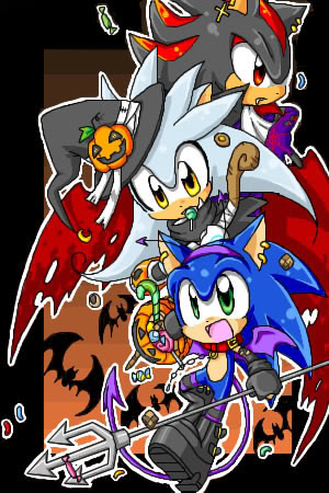 sonic and shadow and sliver