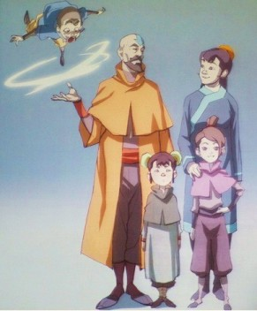 tenzin and family - avatar-the-legend-of-korra Photo