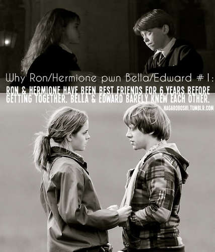 why Ron/Hermione pwn Bella/Edward