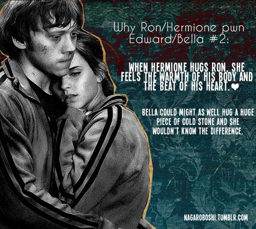 Harry Potter Vs. Twilight wallpaper with anime titled why Ron/Hermione pwn Bella/Edward