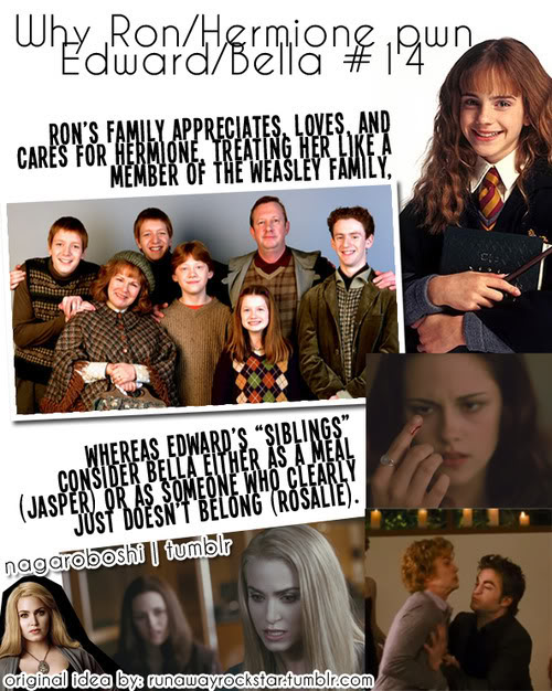 why Ron/Hermione pwn Bella/Edward