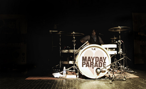 Mayday Parade wallpaper with a drummer and a bas, bass drum called <3
