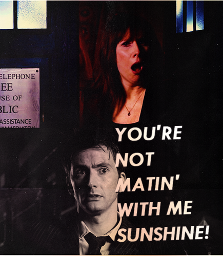 Donna Noble Hintergrund probably with a sign, a business suit, and Anime called -Donna Noble-