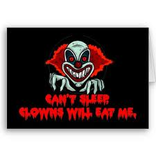 "Scary Clowns wallpaper called ""shudder"""
