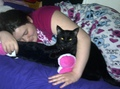 Me Sleepin With My Cat Geo - fanpop-pets photo