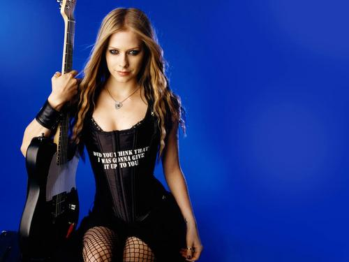 Avril Lavigne پیپر وال possibly with hosiery, tights, and a leotard titled AVRIL LAVIGNE :P