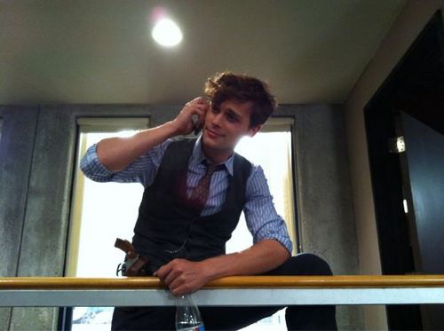 Agent Reid on the phone