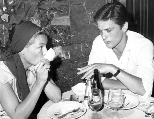 Alain Delon wallpaper entitled Alain Delon and Romy Schneider