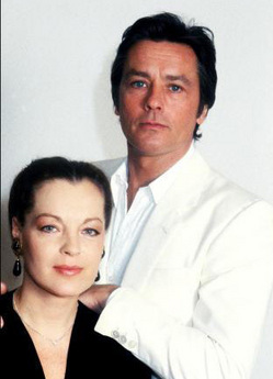 Alain Delon wallpaper probably containing a portrait entitled Alain Delon and Romy Schneider