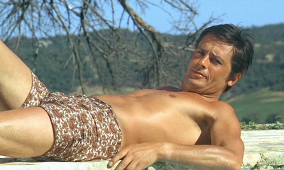 Alain Delon wallpaper probably with a bikini and skin entitled Alain