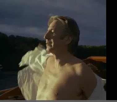 Alan/Snape taking off that white under chemise