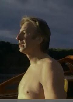 Alan/Snape taking off that white under 衬衫