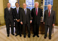 All 5 living Presidents co-existing