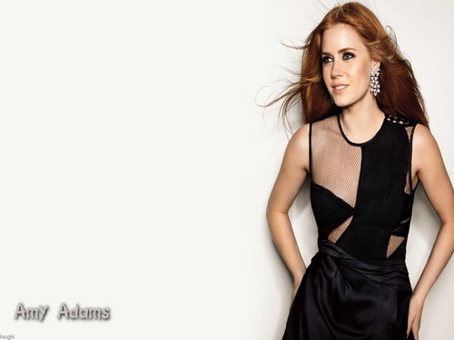Amy Adams karatasi la kupamba ukuta probably with a gown, a chajio, chakula cha jioni dress, and a strapless titled Amy Adams