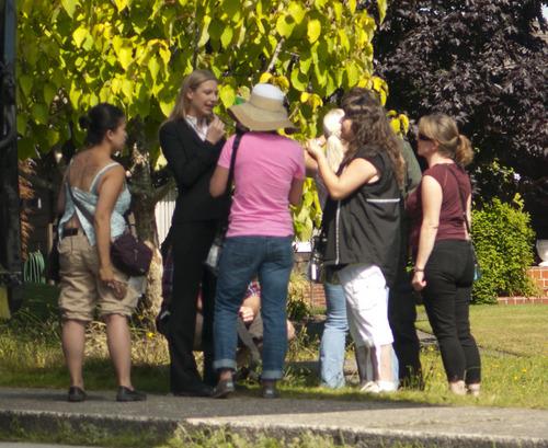 Anna Torv On The Set Filming Season 4