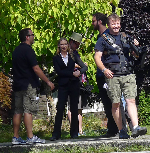 Anna Torv On The Set Filming Season 4