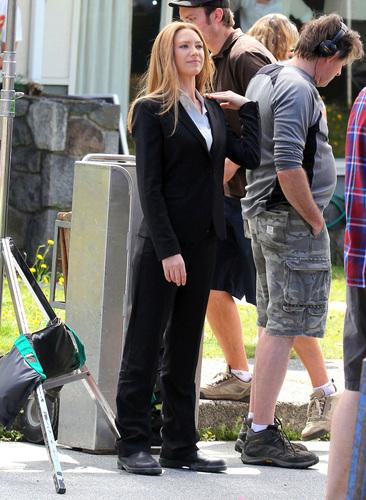 Anna Torv - On The Set - Filming Season 4