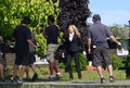 Anna Torv On The Set Filming Season 4 - olivia-dunham photo