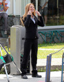 Anna Torv - On The Set - Filming Season 4 - olivia-dunham photo