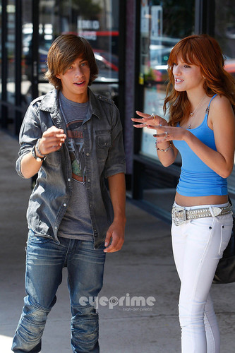 Bella Thorne: Jimmy Bennett Video Shoot For Walk This Way
