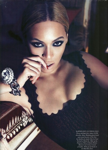 Beyonce wallpaper probably containing a lingerie, an undergarment, and attractiveness called Beyonce - Photoshooting - Harper's Bazaar 2011