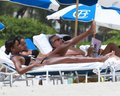 Bikini Candids on the Beach in Miami 1 05 2011