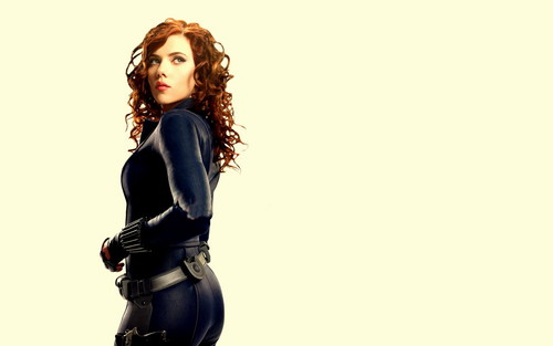 Scarlett Johansson wallpaper probably containing a hip boot titled Black Widow