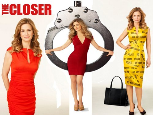 The Closer wallpaper probably with tights, a playsuit, and a well dressed person titled Brenda 1
